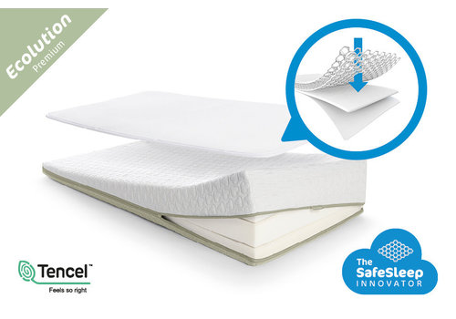 AeroSleep Sleep Safe Ecolution Pack PREMIUM: matras + matrasbeschermer 120x60cm