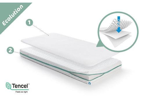 AeroSleep Sleep Safe Ecolution Pack: matras + matrasbeschermer 95x75cm