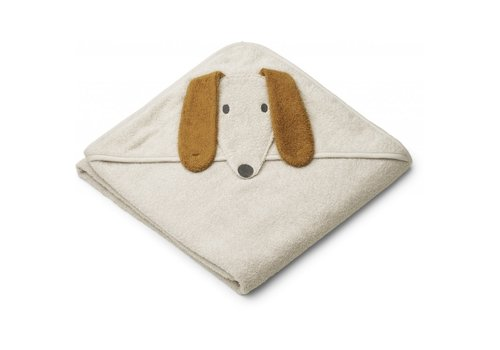 Liewood Augusta hooded towel Dog sandy