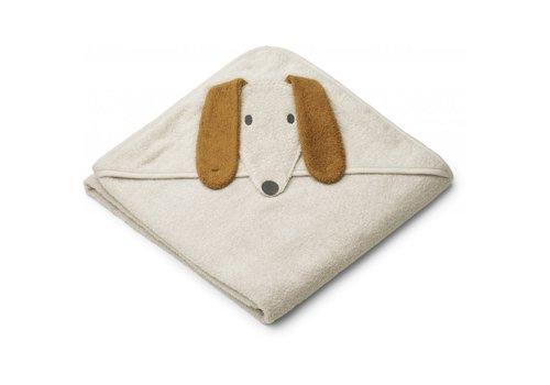 Liewood Handdoek Augusta 100x100 Dog sandy