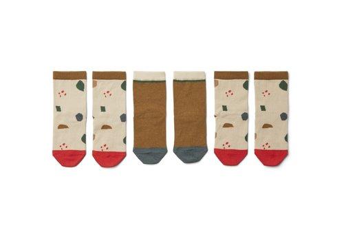 Liewood Silas cotton socks - 3 pack Geometric foggy mix