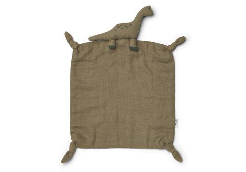 Liewood Agnete cuddle cloth Dino khaki