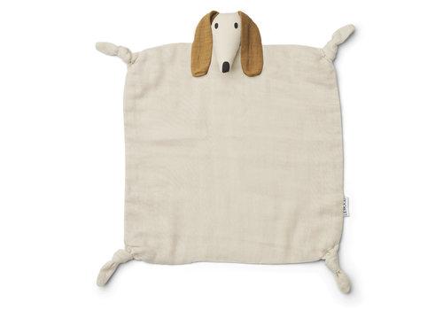 Liewood Agnete cuddle cloth Dog sandy