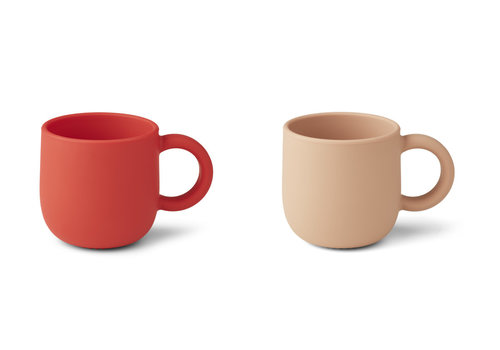 Liewood Merce cup 2-pack Apple red/tuscany rose mix