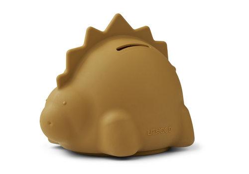 Liewood Palma spaarpot Dino golden caramel