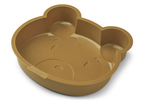 Liewood Amory cake pan Mr bear golden caramel