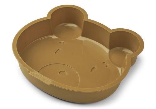 Liewood Cakevorm Amory Mr bear golden caramel