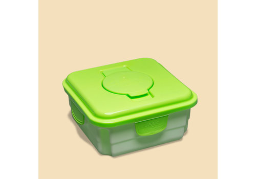 Cheeky Wipes Mucky Baby Wipes container box green