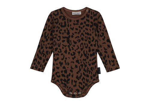 Daily Brat Leopard bodysuit hickory brown