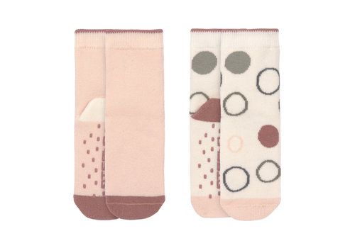 Lässig Anti-slip socks 2 pcs offwhite/powder pink