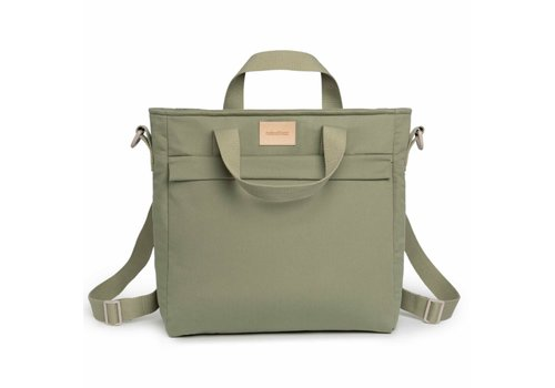 Nobodinoz Baby on the go waterproof changing backpack Olive Green