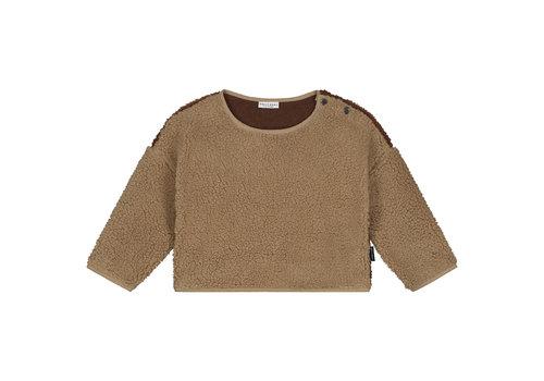 Daily Brat Teddy colour block sweater happy camel