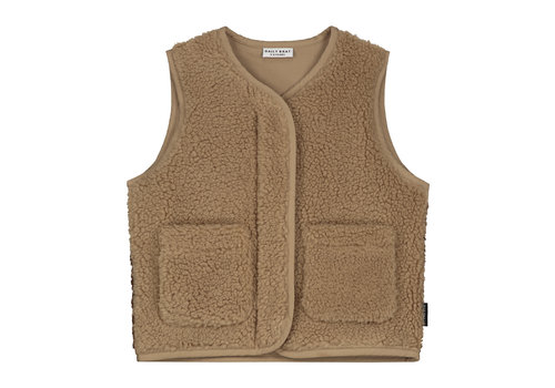 Daily Brat Teddy colour block vest happy camel