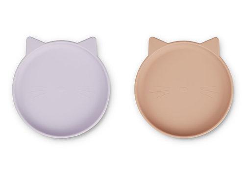 Liewood Olivia bord 2st Cat light lavender rose mix