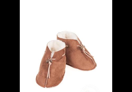 Alwero Baby slipper Velours Dark brown
