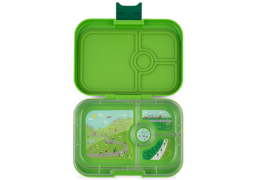 Yumbox Lunchbox PANINO 4 vakjes Go green
