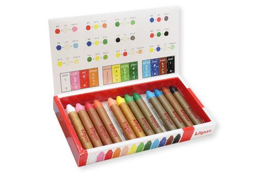 Kitpas Art crayons 12pcs medium