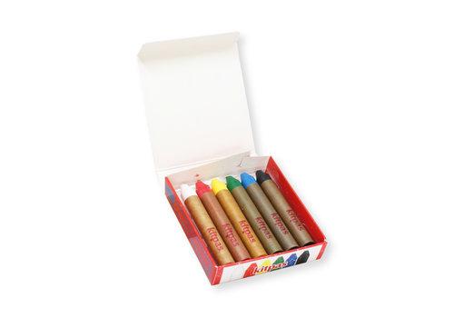 Kitpas Art crayons 6pcs medium