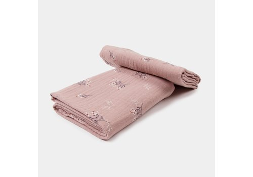 mundo melocotón Set van 2 tetradoeken Pink heather 65x65