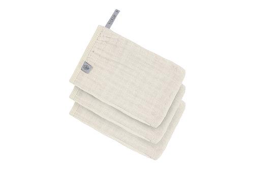 Lässig Muslin Wash Glove Set 3 pcs Milky
