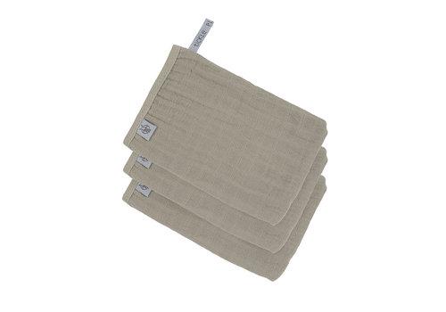 Lässig Muslin Wash Glove Set 3 pcs Olive