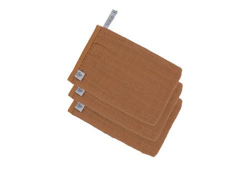 Lässig Muslin Wash Glove Set 3 pcs Rust