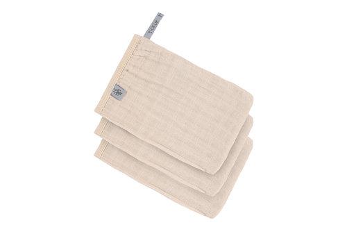 Lässig Muslin Wash Glove Set 3 pcs Powder pink