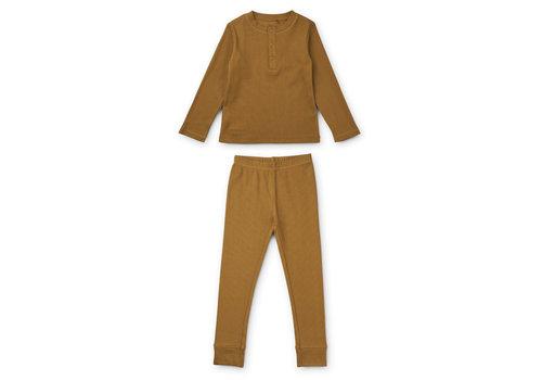 Liewood Wilhelm pyjamas set Golden caramel