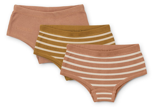 Liewood Nicky hipsters 3-pack Stripe Tuscany rose multi mix