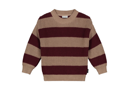Daily Brat Elliot striped knitted sweater pecan
