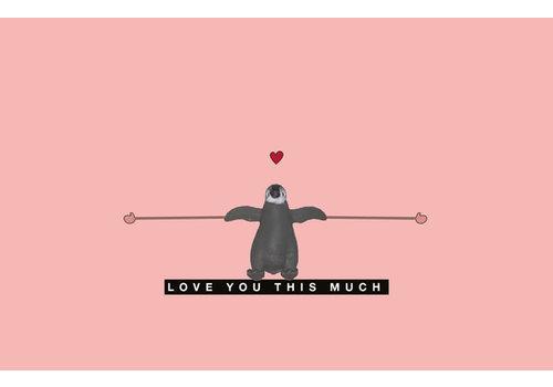 Leuke Kaartjes Luckies Love you this much