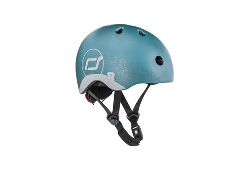 Scoot and Ride Babyhelm XS - Reflecterend Steel (45–51cm)