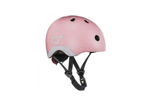 Scoot and Ride Babyhelm XS -Reflecterend Rose (45–51cm)