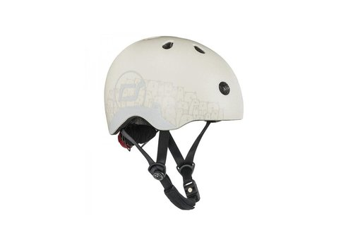 Scoot and Ride Babyhelm XS - Reflecterend Ash (45–51cm)