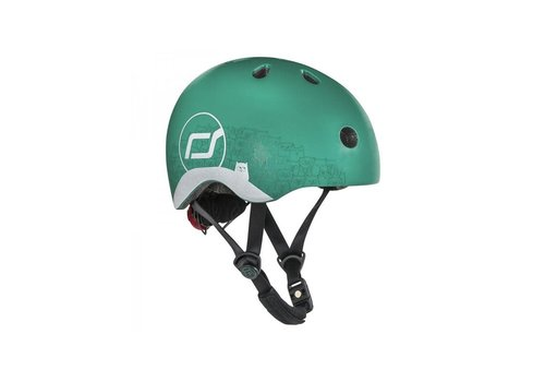 Scoot and Ride Babyhelm XS -Reflecterend Forest (45–51cm)