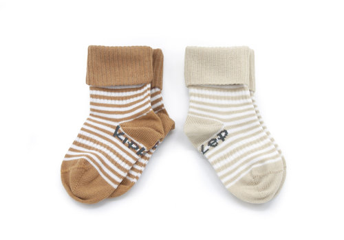 KipKep Stay-on-socks Camel & Sand 2st
