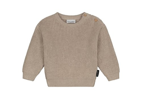 Daily Brat Mini knitted sweater soft stone