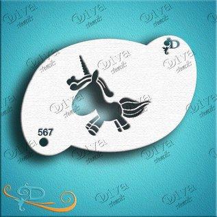 DivaStencils 567 Diva Stencil unicorn
