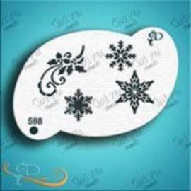 DivaStencils Snowflakes Elements