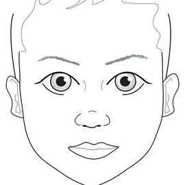 Sally Ann Lynch A4 Kids Face Practice Board