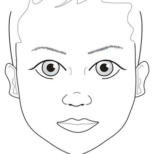 Sally Ann Lynch A4 Kids Face Practice Board A40014