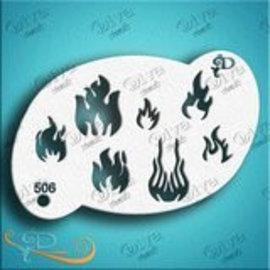 DivaStencils 50 6 Flammes - Fire
