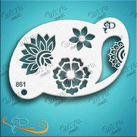 DivaStencils 861 Floral Henna