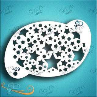 DivaStencils 429 Stars and Stars Texture 429