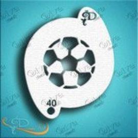DivaStencils 40 Ballon de foot