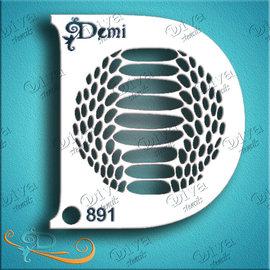 DivaStencils 00891 Demi Snake Skin