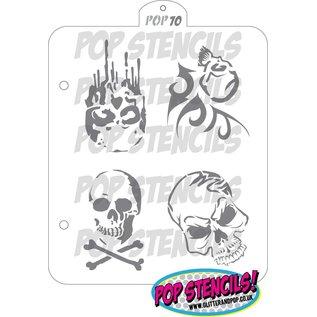 Pop Stencils PopStencils Skull stencil