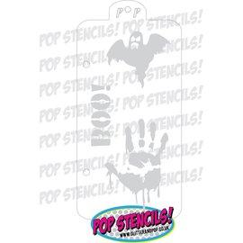 Pop Stencils Handprint and ghost