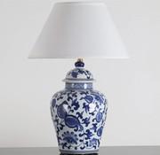 Yajutang Porcelain vase lamp with blue painting (floral motifs)