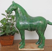Yajutang Tang-Pferd Terrakotta Dunkelgrün